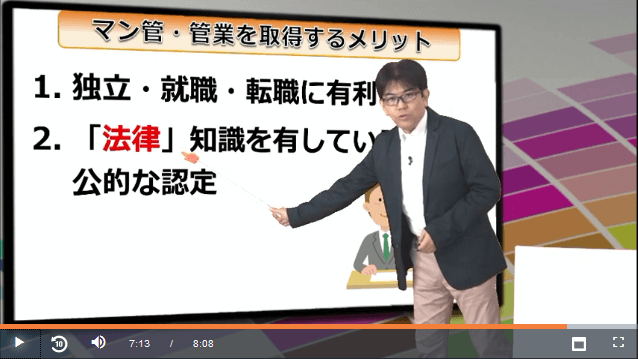 スタディングマンション管理士/管理業務主任者講座の竹原健先生