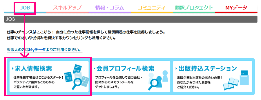 翻訳者ネットワーク「アメリア」求人情報検索へ