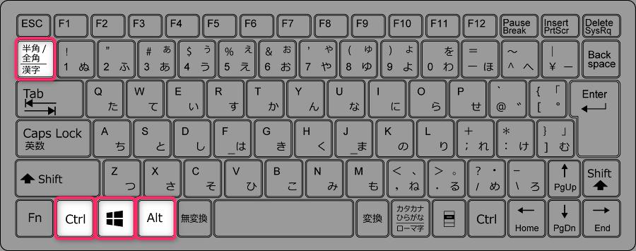 スペイン語のキーボード設定で半角バックスラッシュを入力 右Alt無い場合