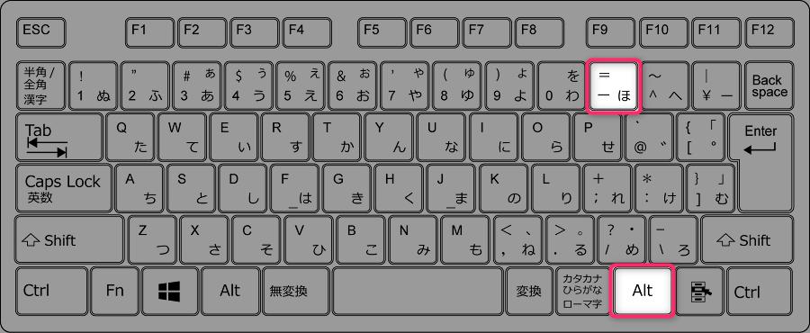 ドイツ語のキーボード設定で半角バックスラッシュを入力