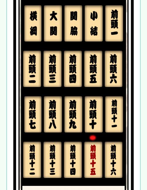 フォーサイト ManaBun(マナブン)確認テスト ゲーム版 番付表