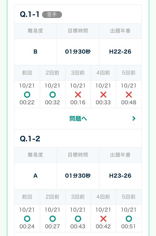 フォーサイト ManaBun 過去問演習機能 自動記録