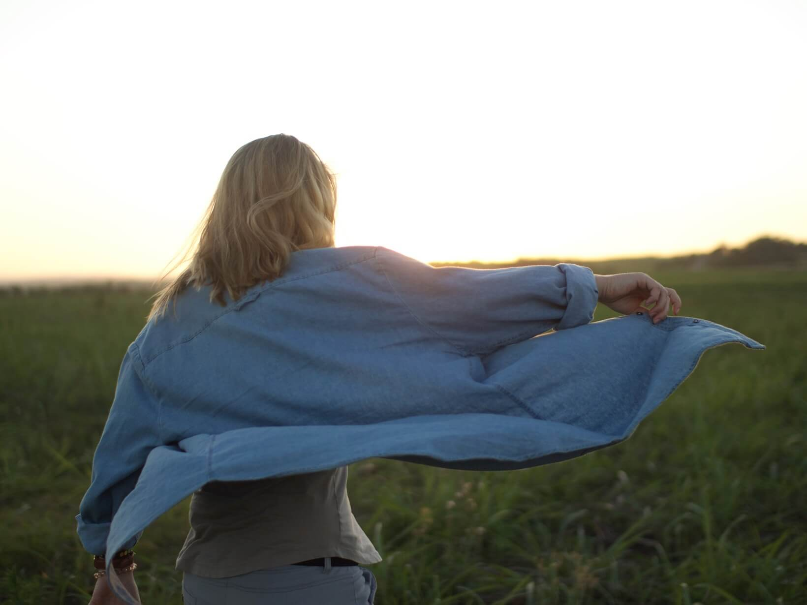 sunrise and woman