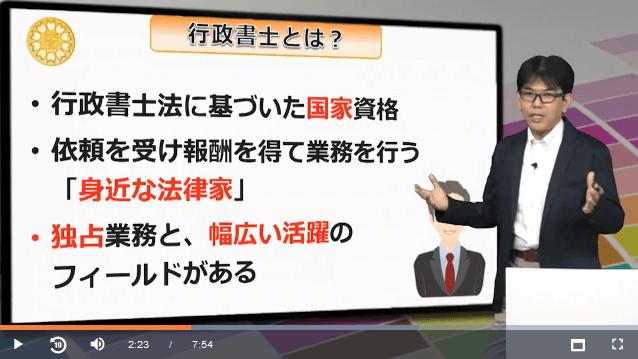 スタディング行政書士講座の竹原健先生