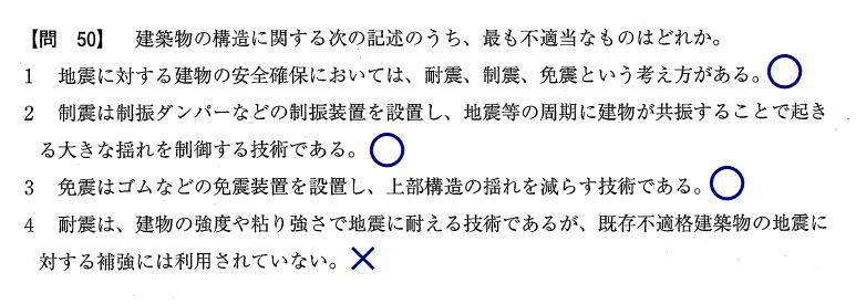 宅建の問題の解き方「選択肢の末尾に○とか×とかを書いておく」