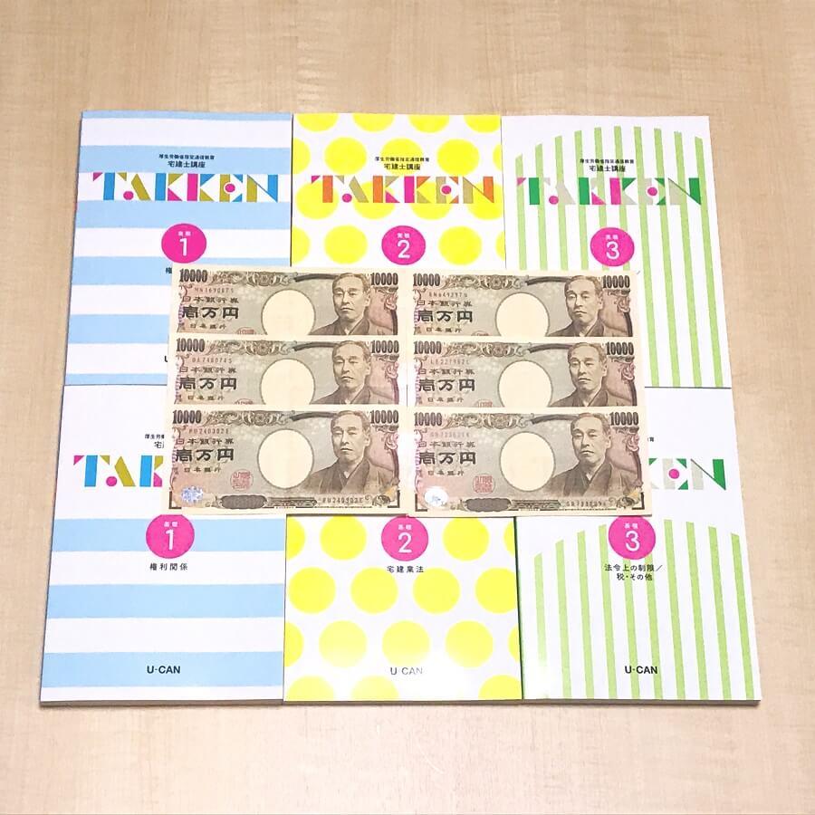 ユーキャン宅建士講座と6万円