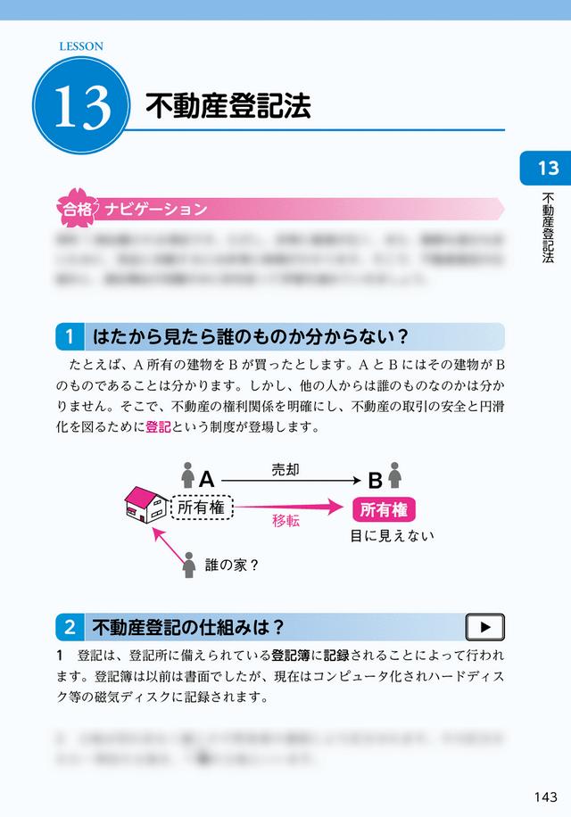 ユーキャン宅建士講座(通信講座)『基礎テキスト』不動産登記法
