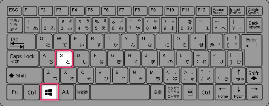 Windowsキー+S